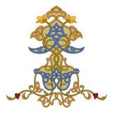Arabski arabeskowy dekoracyjny ornamentacyjny ilustracyjny projekt ilustracji