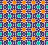 Arabski Bezszwowy Deseniowy tło Zdjęcie Stock
