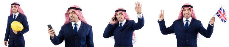 Arabski biznesmen odizolowywający na bielu Zdjęcia Royalty Free