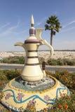 Arabski coffeepot w Mezairaa, UAE Obrazy Stock