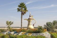 Arabski coffeepot w Mezairaa, UAE Fotografia Royalty Free
