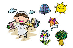 Arabski dzieciak royalty ilustracja