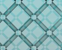 Arabski ecorative skład z kwadratami i cieniami Obraz Royalty Free