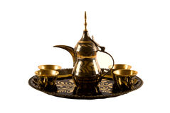 arabski kawowy set Zdjęcia Royalty Free