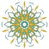 Arabski Kolorowy mandala Etniczni plemienni ornamenty Obrazy Stock