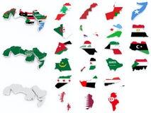 Arabski liga zaznacza kompilację royalty ilustracja