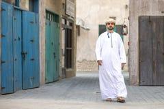 Arabski mężczyzna w Al Seef zdjęcie royalty free