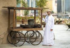 Arabski mężczyzna w Al Seef obrazy stock