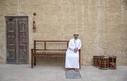 Arabski mężczyzna w Al Seef terenie Dubaj fotografia stock