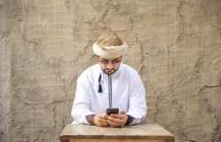 Arabski mężczyzna w Al Seef obraz stock