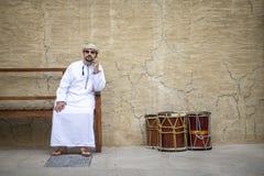 Arabski mężczyzna w Al Seef obrazy royalty free