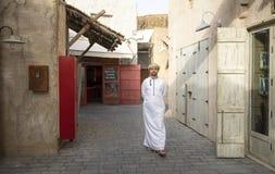 Arabski mężczyzna w Al Seef zdjęcia stock