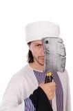 Arabski mężczyzna z cioską Obraz Royalty Free