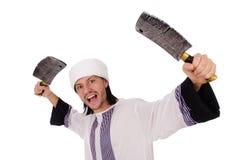 Arabski mężczyzna z cioską Obrazy Royalty Free