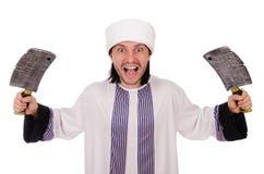 Arabski mężczyzna z cioską Obraz Stock