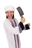 Arabski mężczyzna z cioską Zdjęcie Royalty Free
