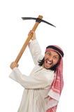 Arabski mężczyzna z lodową cioską odizolowywającą na bielu Obrazy Stock