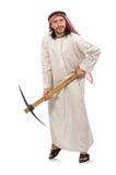 Arabski mężczyzna z lodową cioską odizolowywającą na bielu Zdjęcia Royalty Free