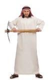 Arabski mężczyzna z lodową cioską odizolowywającą na bielu Fotografia Stock