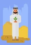 Arabski mężczyzna z rośliną Obraz Stock