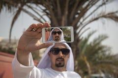 Arabski Męski Bierze Selfie zdjęcia stock