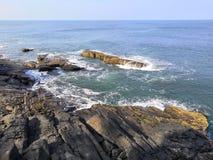 Arabski morze i skały zdjęcia royalty free