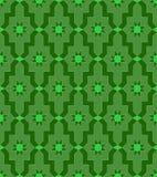 Arabski mozaiki zieleni wzoru mozaiki malowidło ścienne royalty ilustracja