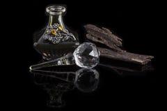 Arabski Oud olej na czarnym tle Obraz Stock