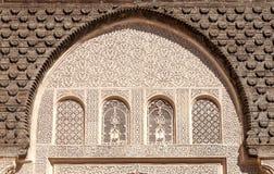 Arabski pałac Ben Youssef Zdjęcia Royalty Free