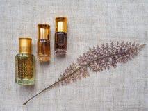 Arabski pachnidło od agarwood drzewa Zdjęcia Royalty Free
