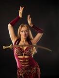 arabski piersi tancerza saber Zdjęcie Royalty Free