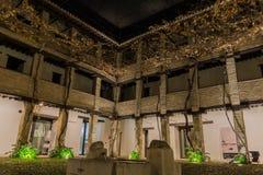 Arabski podwórze przy nocą fotografia royalty free