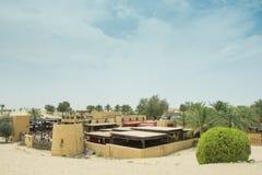 Arabski restauracyjny widok w zadziwiającym pięknym pustynnym luksusowym kurorcie Obrazy Royalty Free