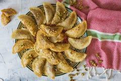 Arabski Tradycyjny deserowy Qatayef lub Atayef fotografia stock