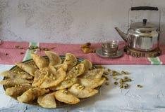 Arabski Tradycyjny deserowy Qatayef lub Atayef zdjęcie stock