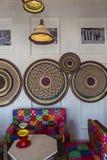 Arabski wnętrze i żywy pokój z dekoracją w Dubaj UAE zdjęcie stock