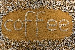 arabskich fasoli kawowa zmielona makro- strzału tekstura dwa Obrazy Stock