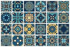Arabskie dekoracyjne płytki ilustracja wektor