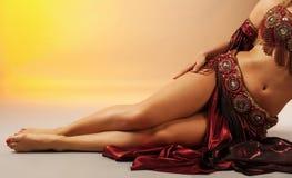 arabskie piękna tancerza nogi Obrazy Stock