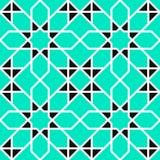 arabskie tło Islamski geometryczny wektorowy bezszwowy wzór Wektorowe kwieciste tekstury w wschodnim stylu azjatykcia dekoracji K ilustracji