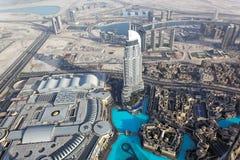 arabskiego burj Dubai emiratów khalifa zlany widok Zdjęcie Royalty Free