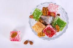 arabskiego tła lakoum rahat słodki biel Zdjęcia Stock