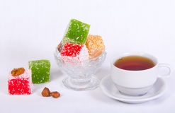 arabskiego tła lakoum rahat słodki biel Fotografia Stock