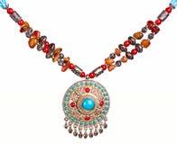 Arabskiej dekoraci handmade odosobniony na bielu Zdjęcie Stock