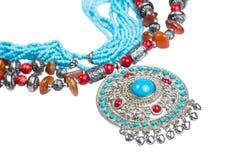 Arabskiej dekoraci handmade odosobniony na bielu Zdjęcia Stock
