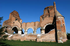 Araca abbey. Araca, The ruins of the Benedictine abbey, built in 1230, Serbia Royalty Free Stock Images