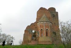 Araca, de ruïnes van de middeleeuwse Romaanse kerk Royalty-vrije Stock Foto's