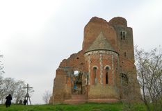 Araca, the ruins of the medieval Romanesque church Royalty Free Stock Photos