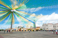 ARACAJU. BRAZIL - JUNE 6, 2014: Saint John flags at the municipal market, in  - Sergipe Royalty Free Stock Photography