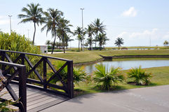 Aracaju Public Park. Aracaju is a municipality and capital of the Brazilian state of Sergipe. It is located on the coast, being cut by rivers like the Poxim and Royalty Free Stock Images